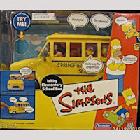 Simpsons School Bus Talking Playset
