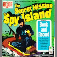 GI Joe The Secret Mission to Spy Island Comic and Record